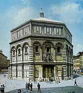 The marble revestment of the Baptistery