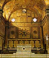 The altar in the apse of the Baptistery