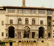 The facade on the Arno side
